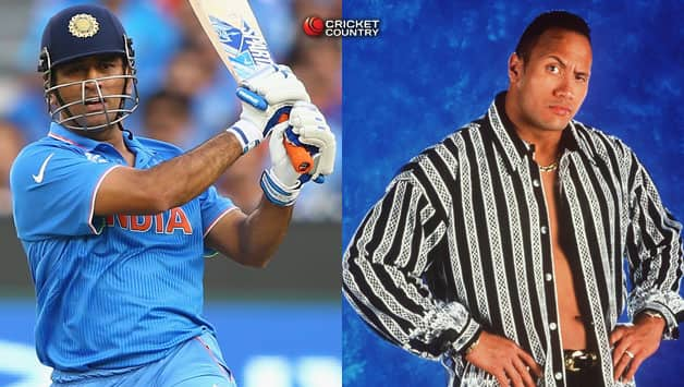 "Video: Dwayne 'The Rock' Johnson recognize MS Dhoni's ""helicopter shot"" bang on"