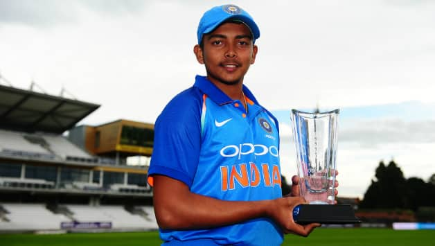Prithvi Shaw will be leading the Indian Under-19 side in the World Cup © Getty Images