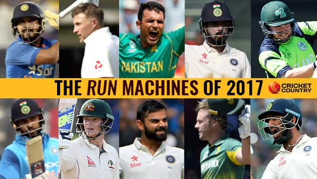 Top, from left: Kedar Jadhav, Joe Root, Fakhar Zaman, KL Rahul, Paul Stirling Bottom, from left: Rohit Sharma, Steven Smith, Virat Kohli, AB de Villiers, Cheteshwar Pujara