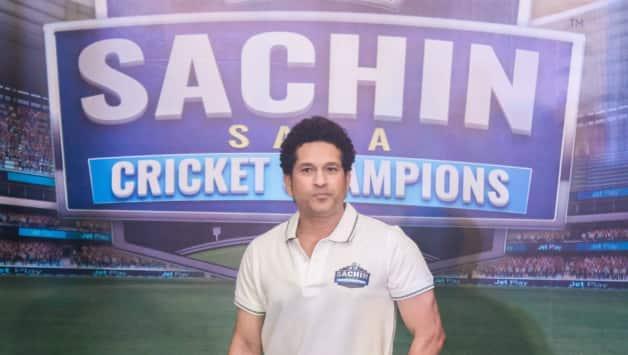Sachin Tendulkar at the launch of 'Sachin Saga Cricket Champions' © IANS