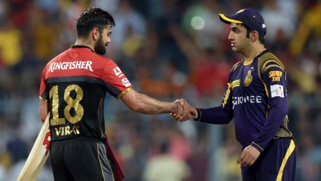 Virat Kohli, Gautam Gambhir during IPL 10 © AFP
