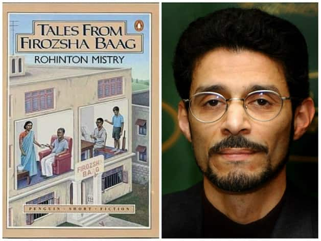Left: Cover of Tales from Firozsha Baag (courtesy: Wikimedia Commons) Right: Rohinton Mistry © Getty Images