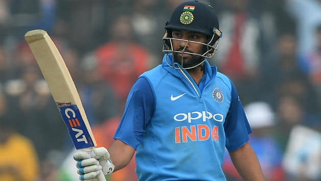 Rohit Sharma scored his first 50 as India captain © AFP