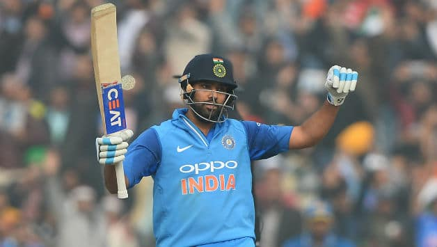 Rohit Sharma scored his third score of 200 in ODIs © AFP