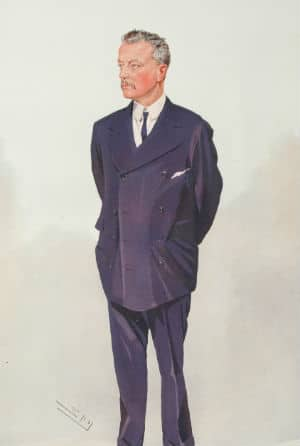 Abe Bailey, as caricatured by Spy (Leslie Ward) in Vanity Fair, 1908 (courtesy: Wikimedia Commons)