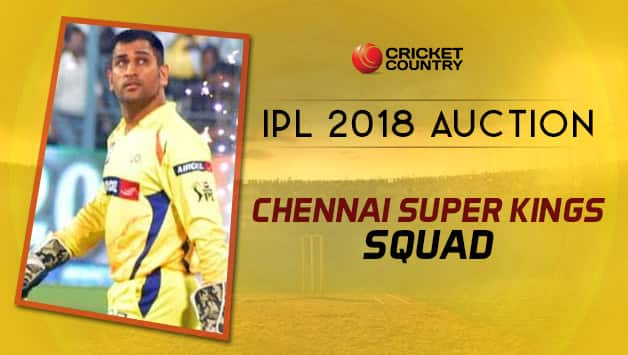 Chennai Super Kings will be lead by MS Dhoni in 2018 edition © AFP