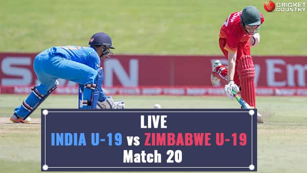 ICC U-19 WC: India thrash Zimbabwe to top Group B