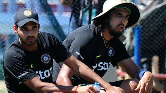 Ishant Sharma (right) played ahead of the in-form Bhuvneshwar Kumar (Image courtesy: AFP)