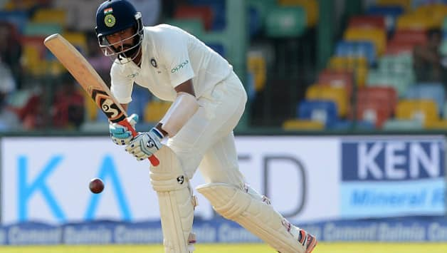 Cheteshwar Pujara's footwork against spin was fabulous (Image courtesy: AFP)