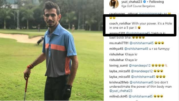 Coach Sridhar's comments. Picture courtesy: Yuzvendra Chahal's instagram account