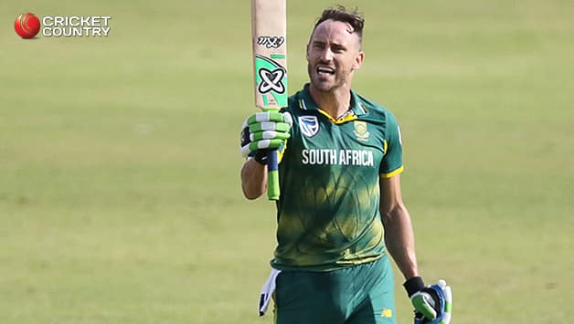 Faf du Plessis scored his second ODI hundred against India to help South Africa reach a total of 269 runs Kuldeep Yadav was pick of the bowler's for India, claiming 3 for 34 © AFP