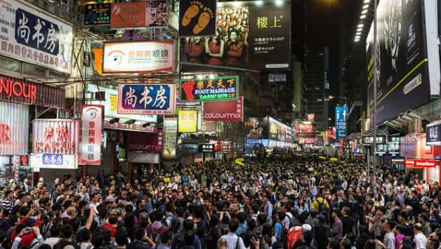Mong Kok area in Hong Kong (Image courtesy: AFP)