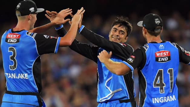 Billy Stanlake, Rashid Khan and Colin Ingram © Getty Images