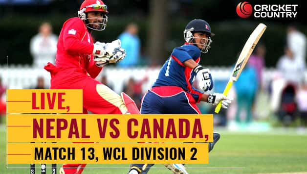 Live Cricket Score in Hindi, Nepal vs Canada, ICC World Cricket League Division 2, Match 13