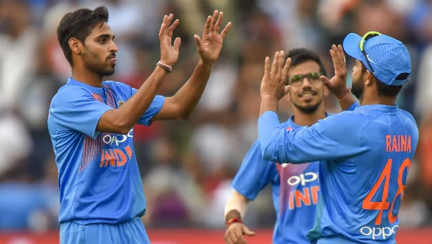 Bhuvneshwar Kumar picked 5 wickets in India's 28 runs win over South Africa © AFP