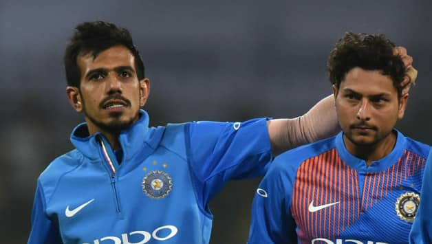 Yuzvendra Chahal (left) and Kuldeep Yadav have been India's key to success in recent times © AFP