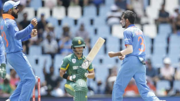 Yuzvendra Chahal claimed his maiden fifer in ODIs, India need 119 to win © AFP