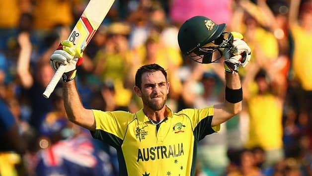 Maxwell scored the second century of his T20I career © Getty Images