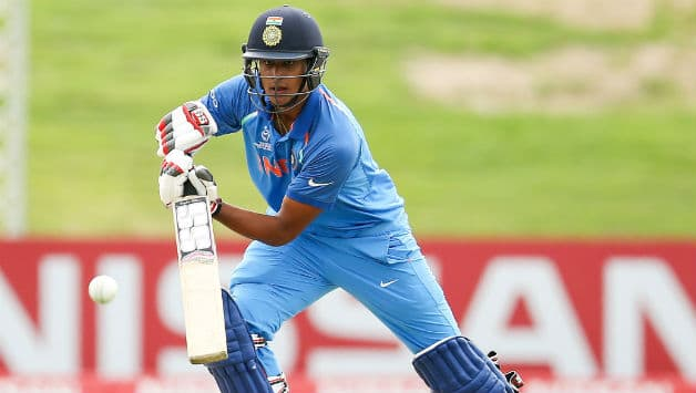 Manjot Kalra became the fifth player to score a century in an U19 World Cup Final © AFP