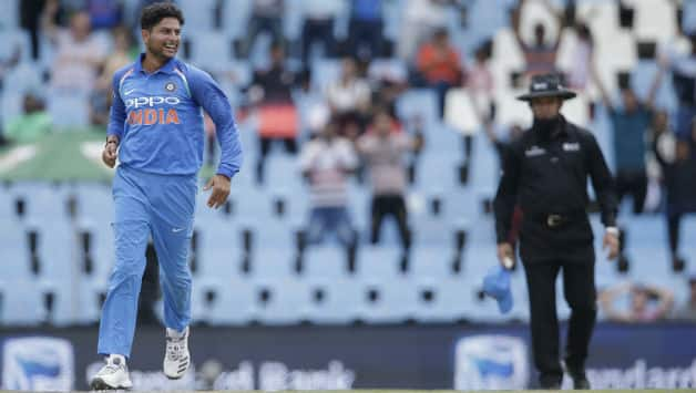 Kuldeep Yadav picked two wickets in back-to-back overs   © AFP