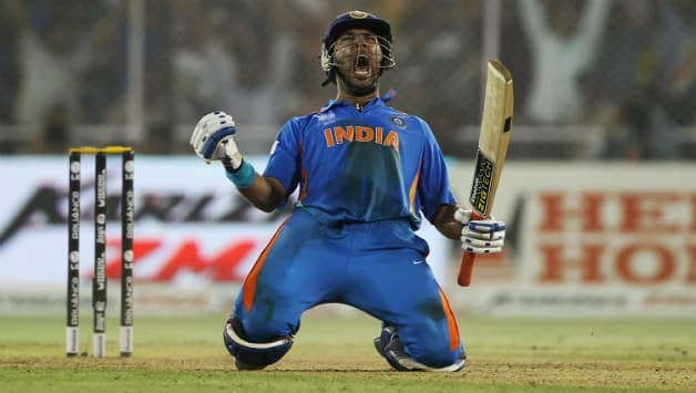 Yuvraj Singh was India's key architect in the 2011 World Cup triumph © Getty Images
