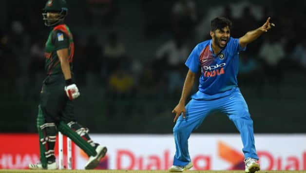 India thrashed Bangladesh by 6 wickets in their last face-off © AFP