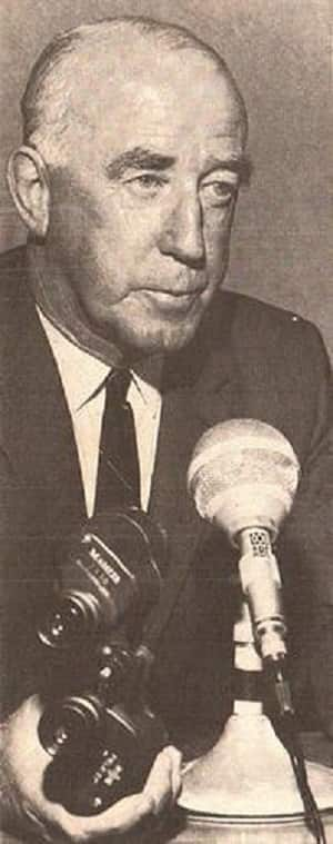 Alan McGilvray (photo courtesy: Wikimedia Commons) was Australia's most celebrated radio cricket commentator. As captain, however, he did not spare an inch.