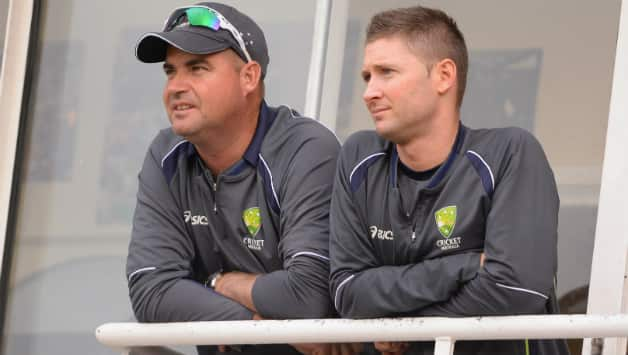 Mickey Arthur (left) and Michael Clarke during their Australia days © Getty Images