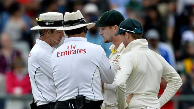 Cameron Bancroft (second from right) © Getty Images