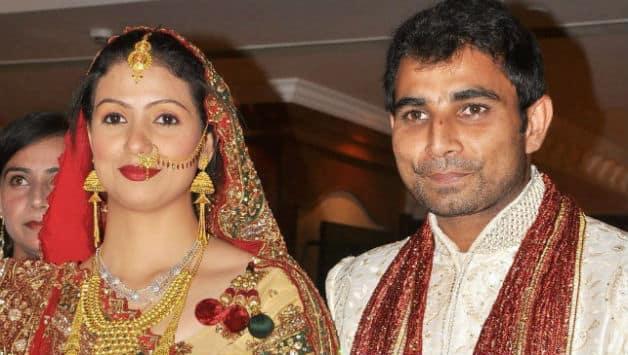 Wedding photograph of Mohammed Shami (right) and Hasin Jahan © PTI