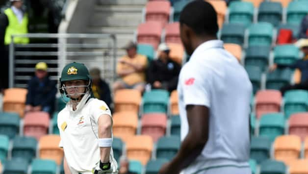 Steven Smith and Kagiso Rabada have been in centre of news in the second Test at Port Elizabeth © AFP