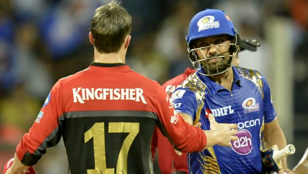 Rohit Sharma and AB de Villiers © AFP