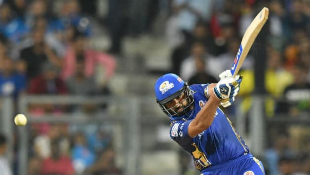 Rohit Sharma scored his 33rd IPL fifty © AFP