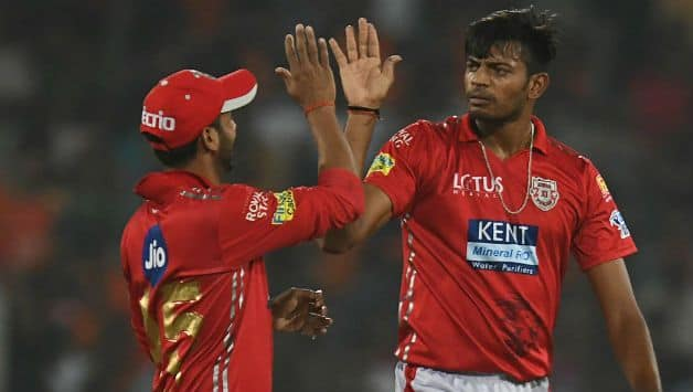 Ankit Rajpoot's 5 for 14 is the second best spell by an Indian in IPL © AFP