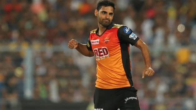 Bhuvneshwar Kumar claimed 3 wickets for SRH © BCCI