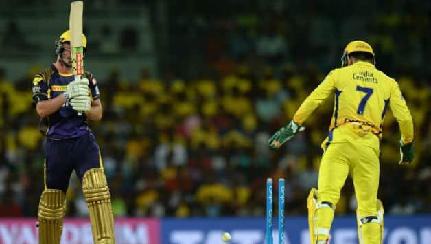 Birthday boy Chris Lynn gets bowled off Ravindra Jadeja © AFP