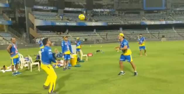 IPL 2018: MS Dhoni shows his football skills ahead of clash against Mumbai Indians