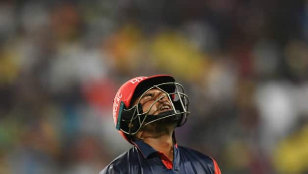 Rishabh Pant dismisses on 43 off 26 adding 52 for the 4th wicket partnership with Glenn Maxwell © AFP
