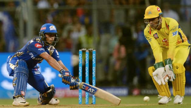 Ishan Kishan showed immense composure during his stay in the middle. He made 40 off 29 © AFP