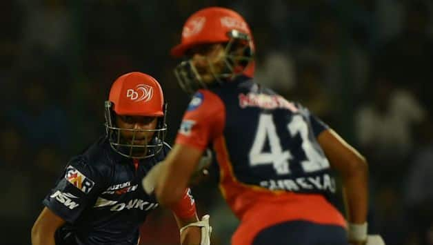 Delhi Daredevils' innings were led by Prithvi Shaw and Shreyas Iyer's fifties © AFP