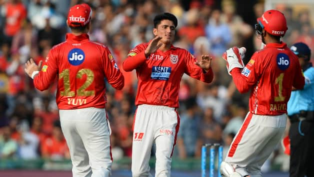 Mujeeb Zadran became the youngest player to make debut in Indian T20 league. He also became the youngest to scalp a wicket on debut. Zadran ended with figures of 2 for 28 © AFP