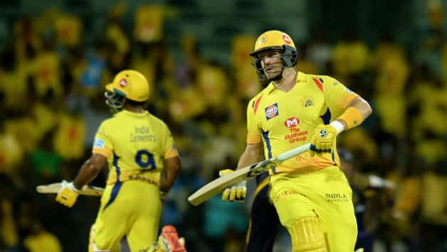 Shane Watson and Ambati Rayudu added 75 in no time for Chennai © AFP