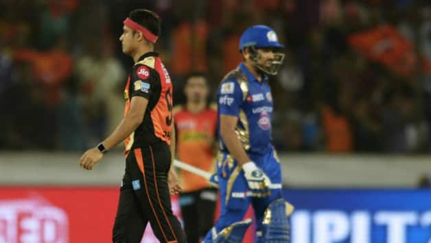 Sunrisers beat Mumbai in a nail biting finish