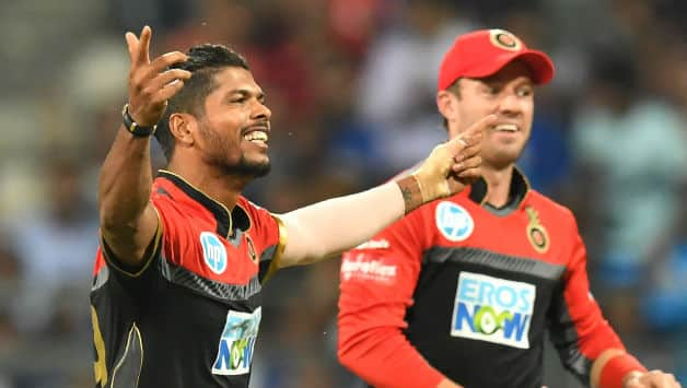 Umesh Yadav claimed 2 wickets in 2 balls for RCB © AFP