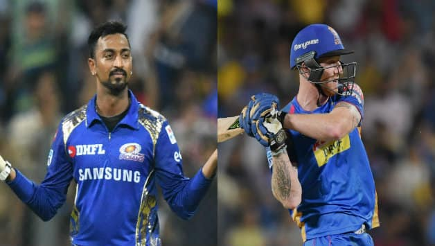 Krunal Pandya (l) will be up against Ben Stokes (r) © AFP