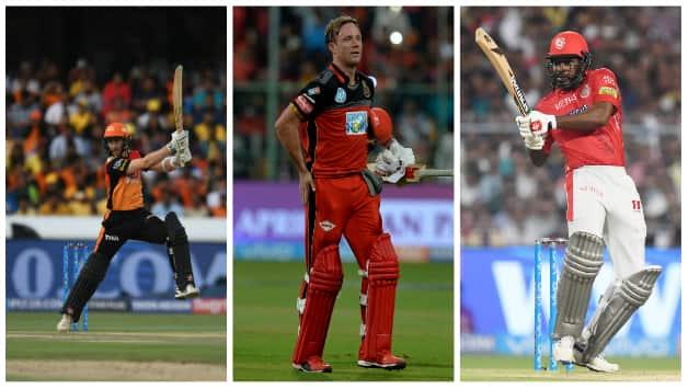 Kane Williamson, AB de Villiers and Chris Gayle © AFP
