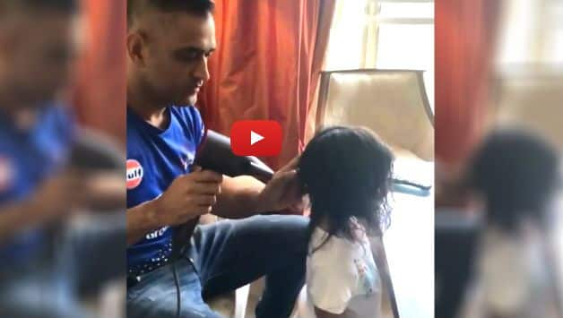 """IPL 2018: Watch how Mahendra Singh Dhoni did """"daddy duties"""" after match-winning knock against RCB"""