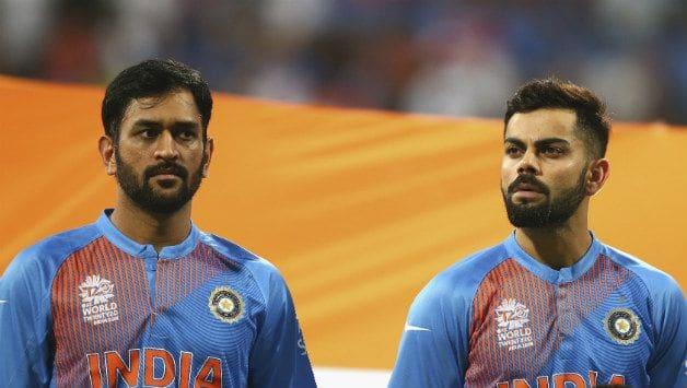 MS Dhoni (left) and Virat Kohli © Getty Images