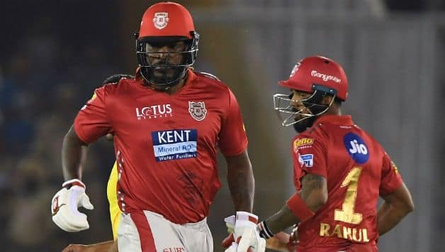 After KL Rahul (R) and Chris Gayle's dismissals, KXIP innings collapsed again © AFP