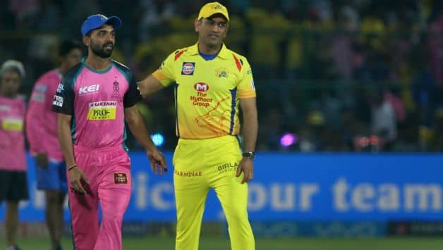 Ajinkya Rajane (L) was a relived man with RR's win over CSK © IANS